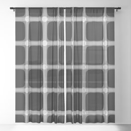 Black and White Illusion Sheer Curtain