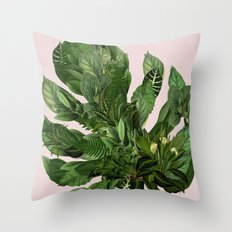 Monstera I Throw Pillow