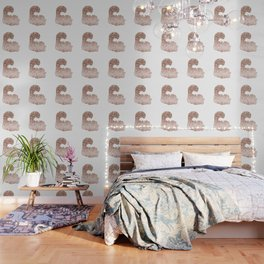 Sparkling rose gold Cheshire Cat Wallpaper
