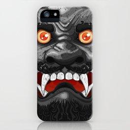 Happy Lion (Black) iPhone Case