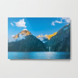 Milford Sound wild beauty, New Zealand. Metal Print
