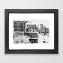 On the Waterfront Trolley Framed Art Print