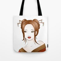 asia Tote Bags featuring Asia by Li-Bro
