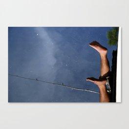 Fishing Feet Canvas Print
