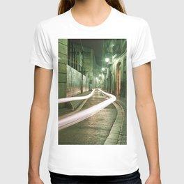 Barcelona, Spain night streets. T-shirt