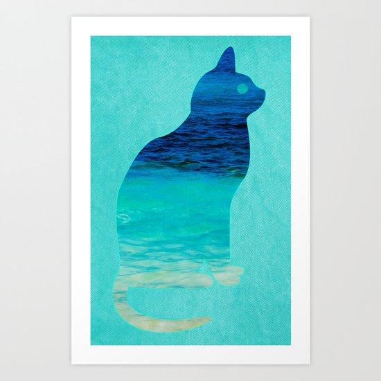 SEA CAT Art Print