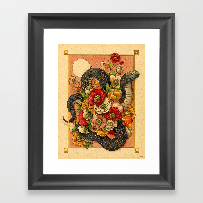 Summer Bouquet Gerahmter Kunstdruck