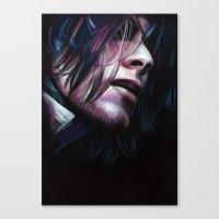 noir Canvas Prints featuring Noir by Jeanne