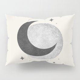 Moon Sparkle BW - Celestial Pillow Sham