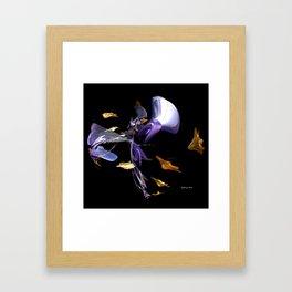 Blowing Leaves Framed Art Print