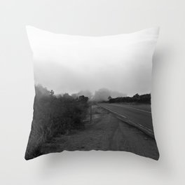 And The Fog Rolls In Throw Pillow