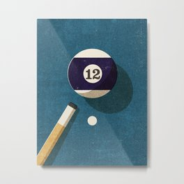 BILLIARDS / Ball 12 Metal Print