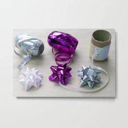 Gift Wrapping Ribbons and Bows Metal Print