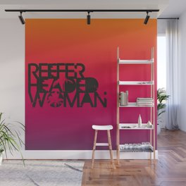 Reefer Headed Woman Wall Mural