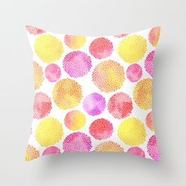 Yellow Red Purple Fireworks Throw Pillow