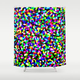 Noise Halftone Shower Curtain