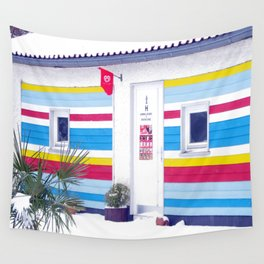 On the beach Wall Tapestry