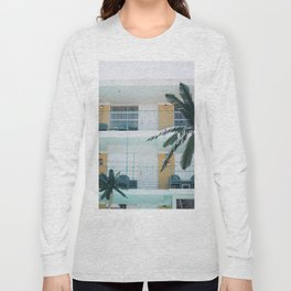 Retro Motel in Wildwood, New Jersey Long Sleeve T-shirt