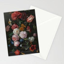 Flowers in a Glass Vase by Davidsz de Heem Stationery Cards