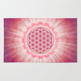 Flower Of Live - Shining Bright Lotus Rug