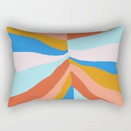Camryn, rainbow leaf Rectangular Pillow