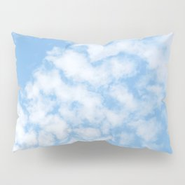 Summer Sky with fluffy clouds Pillow Sham