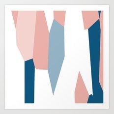 Peachy blue 2 Art Print