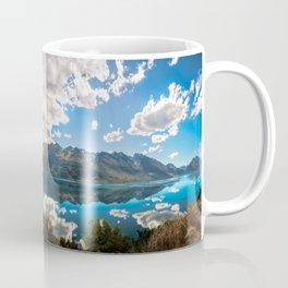 Lake Wakatipu Panorama at Golden Hour Coffee Mug