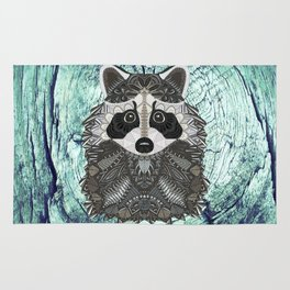 Ornate Raccoon Rug