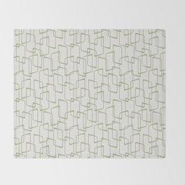 Reverse Beryl Green Mid Century Geometric Pattern Throw Blanket