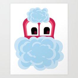 Bubble Beasts: Wild Cherry Berry Bubbler Art Print
