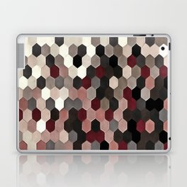 Hexagon Pattern In Gray and Burgundy Autumn Colors Laptop & iPad Skin