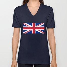 UK Flag - High Quality Authentic 1:2 scale Unisex V-Neck