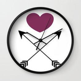 arrow to my heart Wall Clock