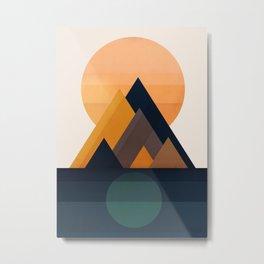 Twin Sun Metal Print