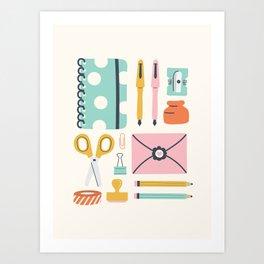 Stationery Love Art Print