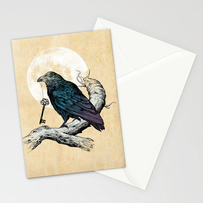Raven's Key Stationery Cards