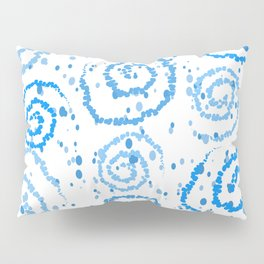 Abstract Blue Squigglisciousness Pillow Sham