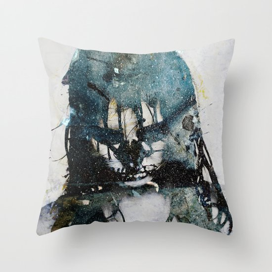 Tousled bird mad girl 2 Throw Pillow