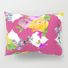 Bright florals with Pink Yarrow Pillow Sham