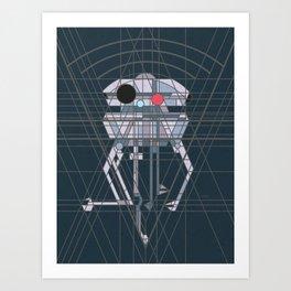 Imperial Probe Deco Droid Art Print