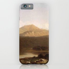 View Of Mt Lafayette New Hampshire 1867 By David Johnson | Reproduction | Romanticism Landscape Pain iPhone Case