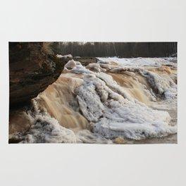 Wintry Bonanza Falls  Rug