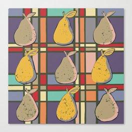 Pear Tartan  Canvas Print