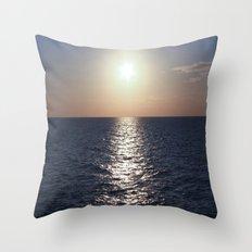 Sunset, Santorini Throw Pillow