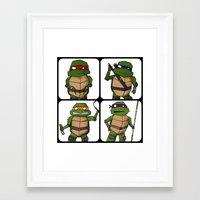 ninja turtle Framed Art Prints featuring Teenage Mutant Ninja Turtle by Robbleeart