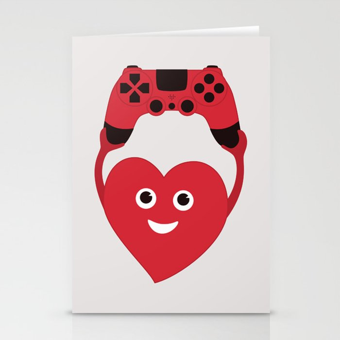 Gaming Heart Stationery Cards