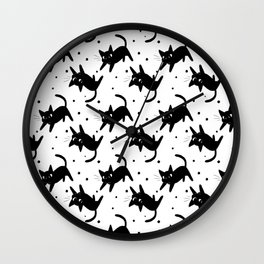 Kitty Kitty Wall Clock