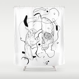 I'm pinching your head Shower Curtain