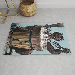 Vintage Creepy Krampus Rug